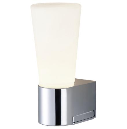 Airam Spa Avella Vägglampa med uttag IP44 Krom