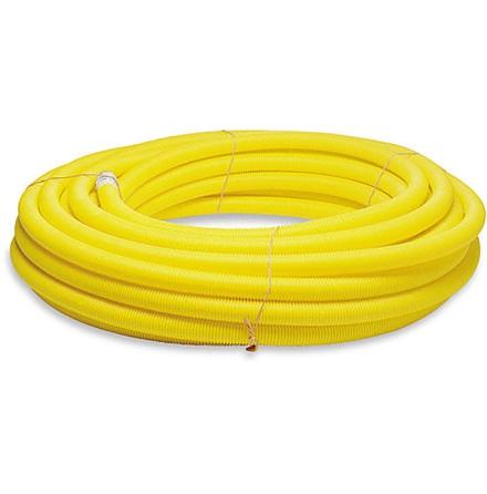 Kabelskyddsrör gult 50m 75/61mm Med dragtråd, slät insida