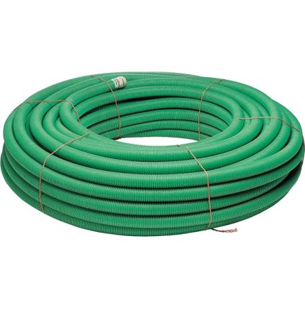 Kabelskyddsrör/Markrör SRN 50m/ring, dragtråd, slät insida