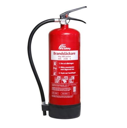 Nexa Brandsläckare Röd 6kg Pulver