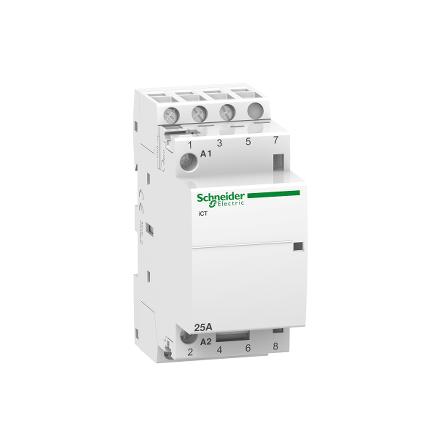 Schneider iCT 25A 3P med 3sl kontaktor