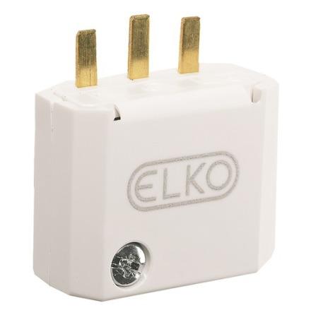 Elko Stickpropp DCL 2-pol med jord Vit