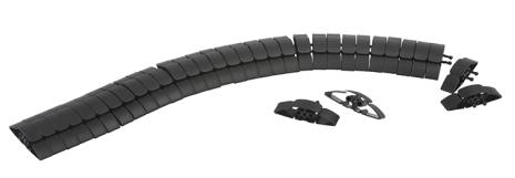 Schneider Unica System+ Kabelgömma Flexibel 1m Svart