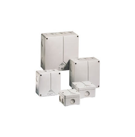A-box 060, 5 pol. plint 4x6 110x110x67mm (M20/M25)