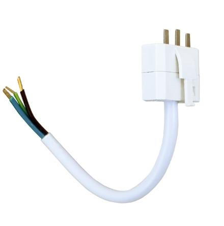 Airam DCL stickpropp 2 pol + jord med 15cm kabel 3G0,75