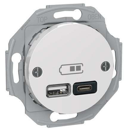Schneider Renova USB Typ A+C Laddstation