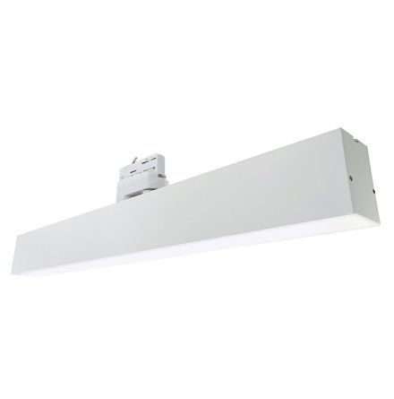 Xerolight Linjär LED 60cm 25W 4000k 100° 3-fas RA80 Dim Vit