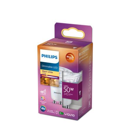 Philips LED 3,8W (50W) 345lm WarmGlow GU10 36°