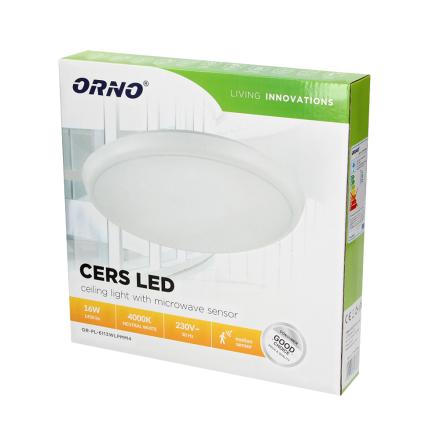Cers LED 16W 4000K 1450lm IP54 Sensor
