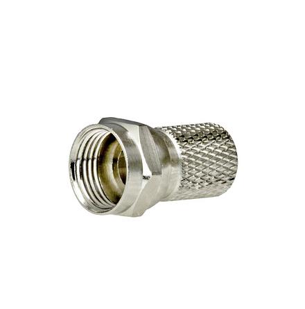 Televes F-Kontakt Hane 1,0/4,6mm för RG6T-kabel Twist-On