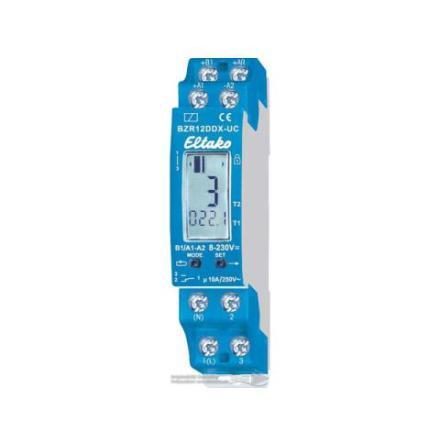 Digital tim/puls räknare BZR12DDX med larmrelä och återställning 1VXL UC 10A