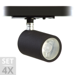 Chester Spotline LED SET Matt Vit - Svart 4x8W 38°