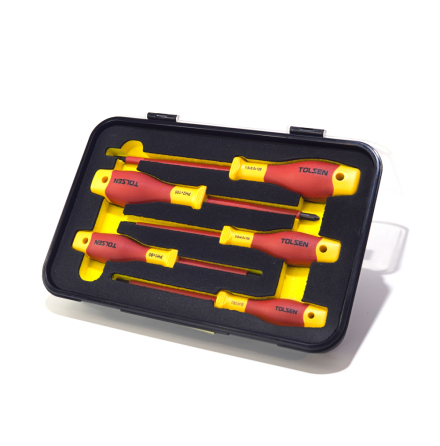 Skruvmejselset VDE-isolerad 1000V Röd/Gul 5-delar