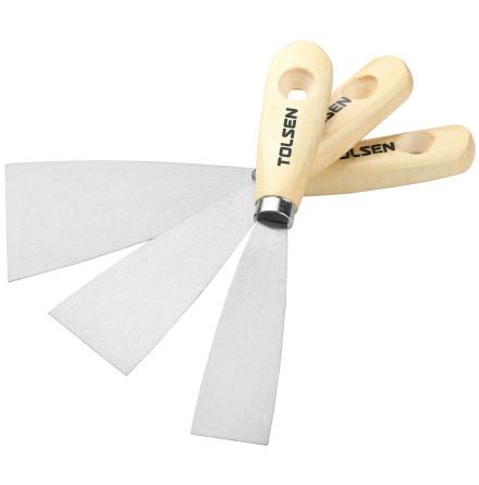 Spackelspadar 30-50-80mm med Trähandtag