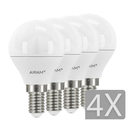 Airam LED Klot E14 4-pack 5,5W